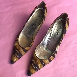 Vintage multicolored Dolce & Gabbana satin shoes
